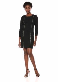 GUESS Women's Long Sleeve Wess Dress  a L