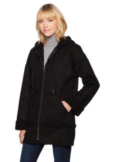 GUESS Women's Long Sleeve Yesmin Hooded Coat