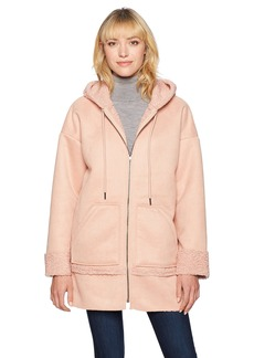 Guess Women's Long Sleeve Yesmin Hooded Coat  X-Small
