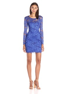 GUESS Women's Long Sleeved Lace Dress