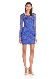 GUESS Women's Long Sleeved Lace Dress