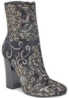 Guess Women's Lovebugi Brocade Block-Heel Booties Women's Shoes
