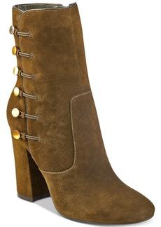 Guess Women's Lucena Block-Heel Button Booties Women's Shoes