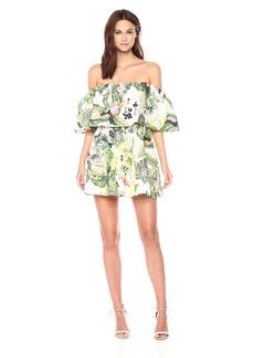 GUESS Women's Lucienne Dress Fleur DE LIS White Combo XS