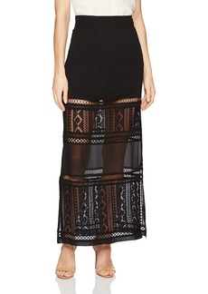 GUESS Women's Marina Mixed Midi Skirt  a