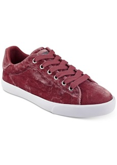 Guess Women's Meagan Classic Velvet Lace-Up Sneakers Women's Shoes
