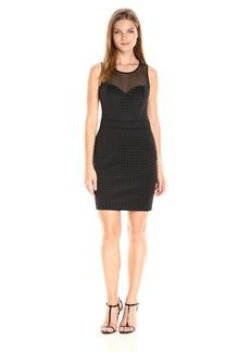 GUESS Women's Mesh Texture Combo Dress