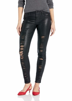 GUESS Women's Metallic Sexy Curve Jean Black wash