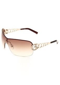GUESS Women's Metal/semi Rimless Shield Sunglasses TO-34 0 mm