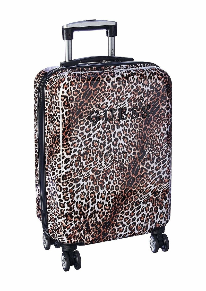 Guess Women's Mimsy carry-on luggage leopard