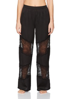 GUESS Women's Mixed Lace Pant  L
