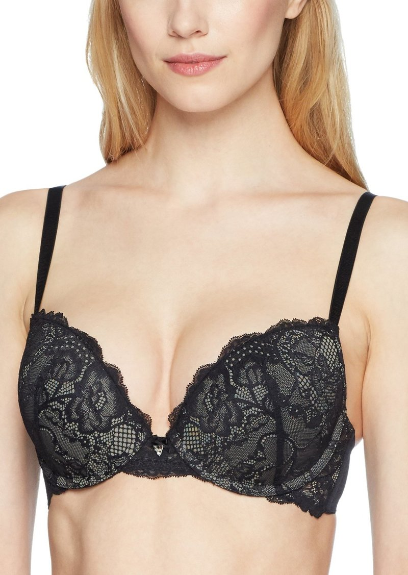 GUESS Women's Mixed Lace Push Up Bra Bra