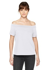 GUESS Women's Off Shoulder Acme Pocket T-Shirt  M