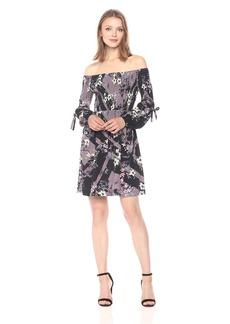 GUESS Women's Off Shoulder Amalia Smocked Dress  XS