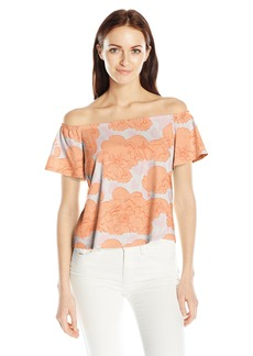 GUESS Women's Off Shoulder Amore Top  S