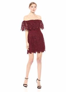 GUESS Women's Off Shoulder ENNA LACE Dress  S