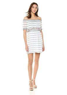 GUESS Women's Off The Shoulder Alloy Dress  L
