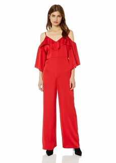 GUESS Women's Off The Shoulder Andie Jumpsuit Scarlett red S