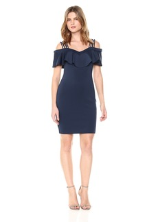 GUESS Women's Off The Shoulder Edrea Dress Blues XS