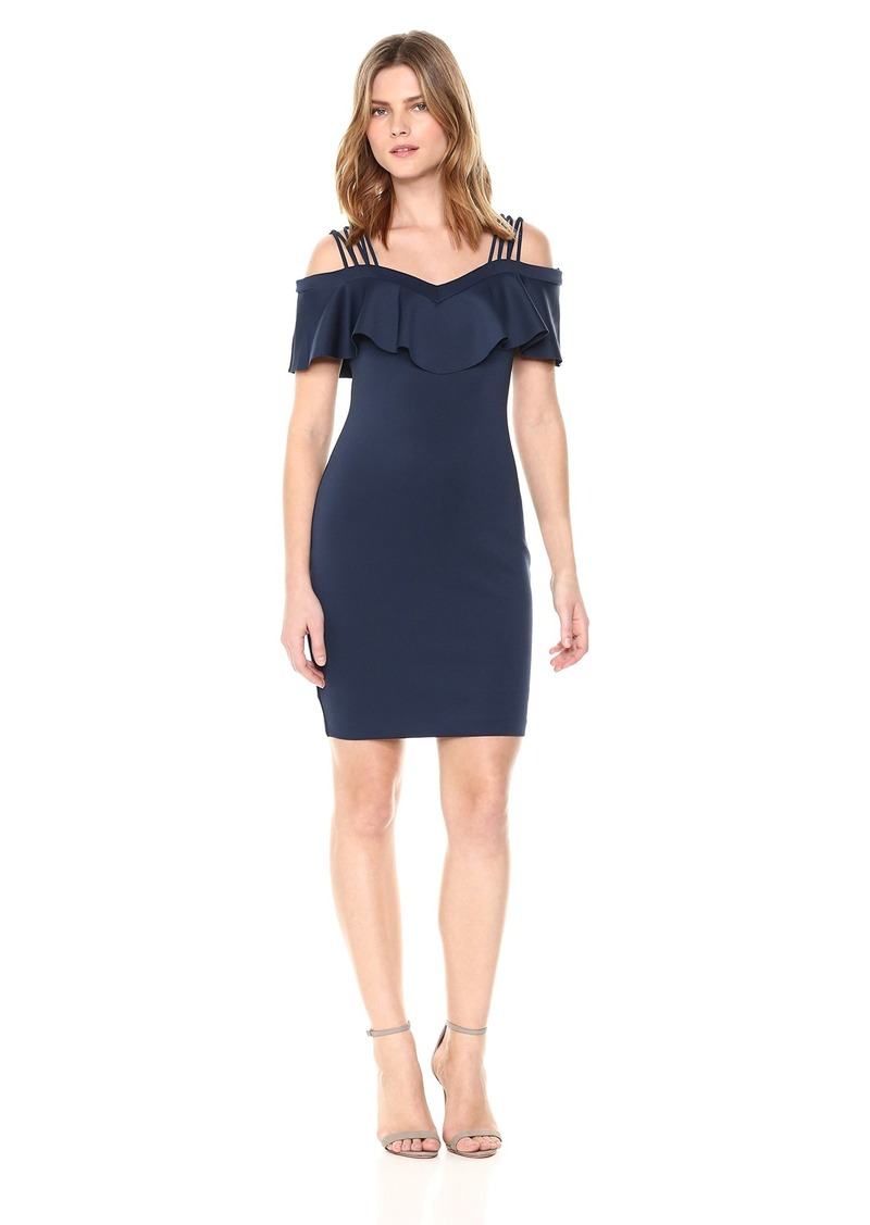 GUESS Women's Off The Shoulder Edrea Dress Blues XS