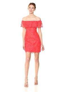 GUESS Women's Off The Shoulder Francine Dress red Lava