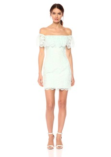 GUESS Women's Off The Shoulder Francine Dress Soothing sea