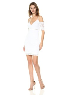 GUESS Women's Off The Shoulder Marcy Lace Dress  M