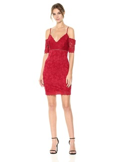 GUESS Women's Off The Shoulder Marcy Lace Dress  XS