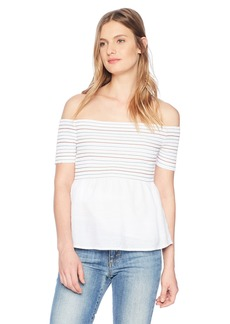 Guess Women's Off The Shoulder Sunkissed Top  S