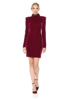 GUESS Women's Olga Turtleneck Velvet Dress