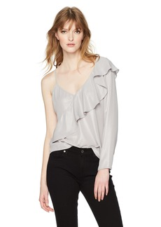 GUESS Women's One Sleeve Milah Top  M