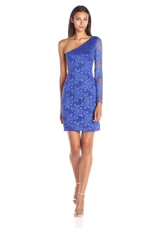 GUESS Women's One Sleeved Lace Dress