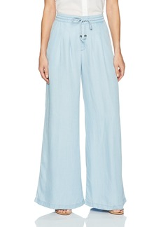 GUESS Women's Palazzo Pant Super Bleached wash M