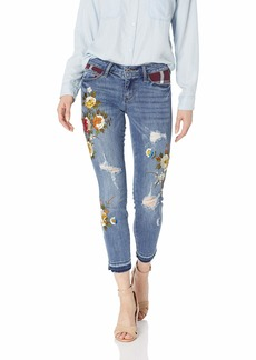 Guess Women's Patchwork Plaid Sexy Curve Jean Woodson wash 27