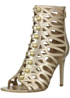 Guess Women's PERLINA2 Heeled Sandal gold  Medium US