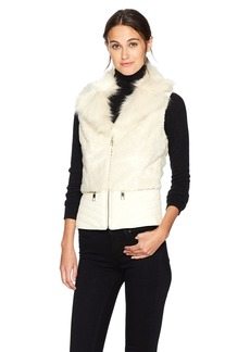 GUESS Women's Piper Vest Milk Multi (MKMT)