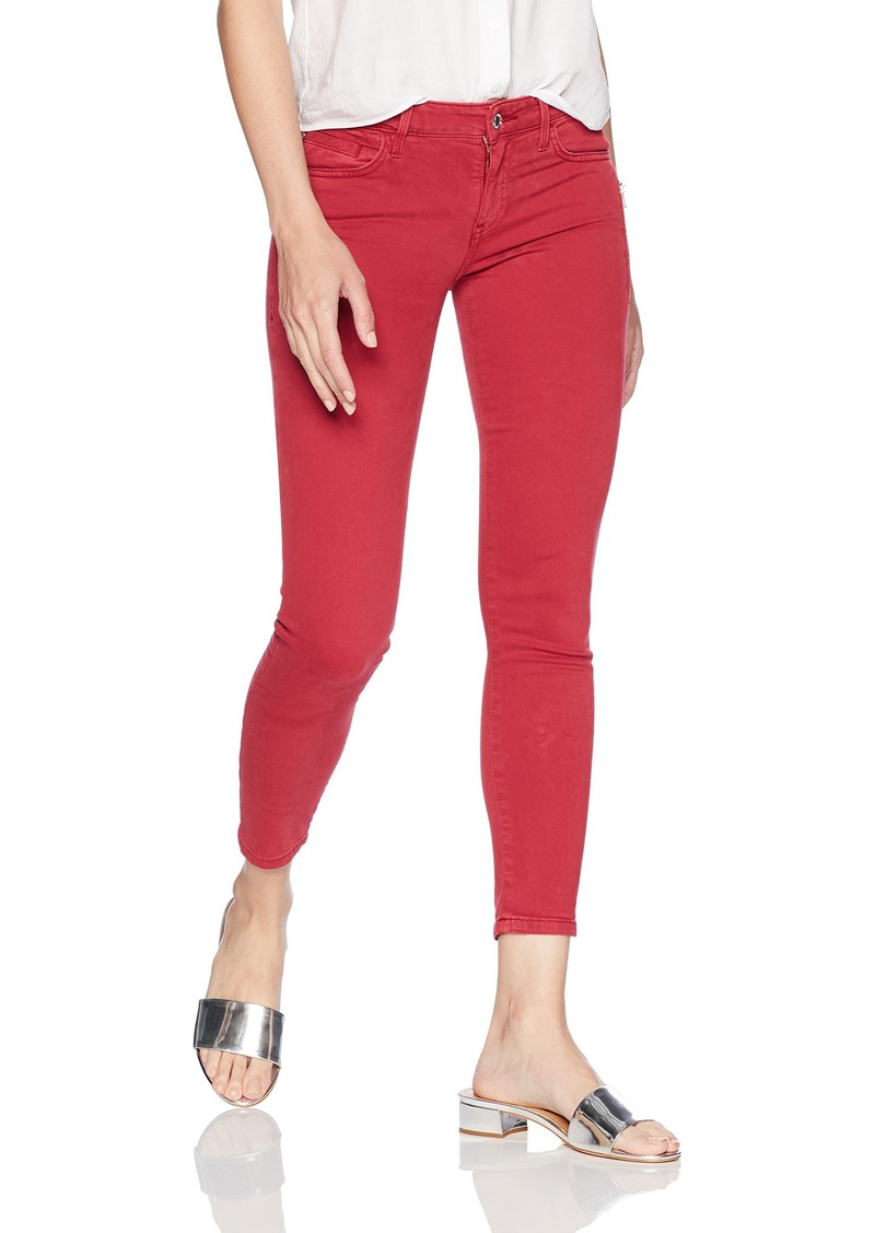 GUESS Women's Power Skinny Jean Pigment dye red Bud
