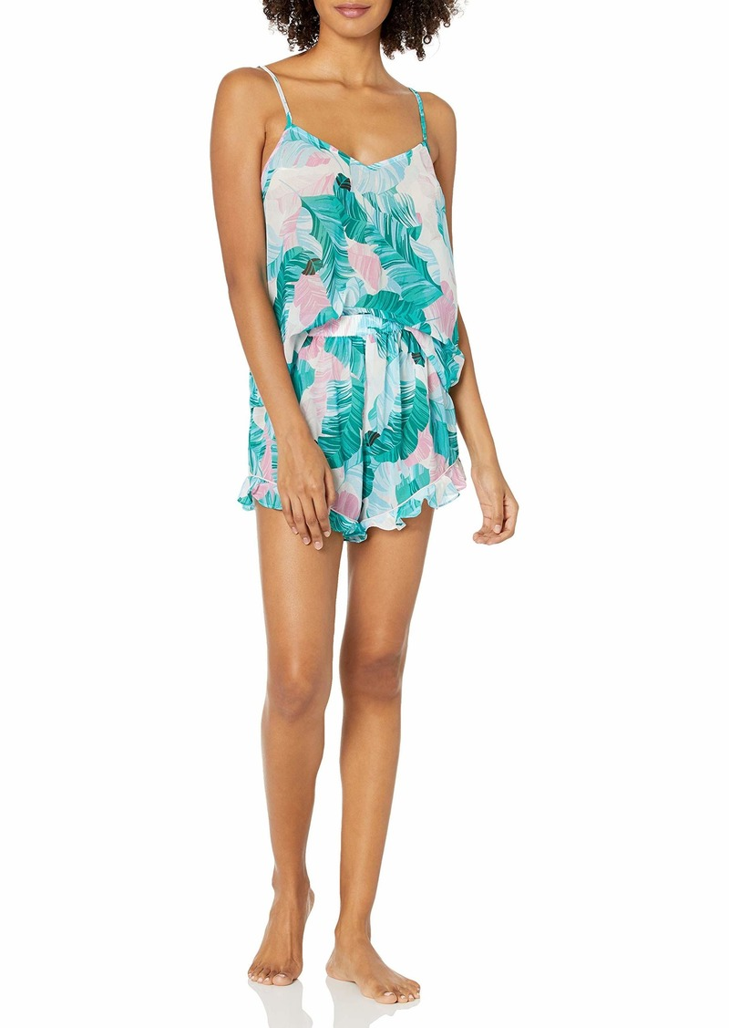 GUESS Women's Printed CAMI and Short PJ Set MULTI