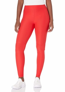 GUESS Women's Printed HIGH Rise Logo Active Leggings RED L