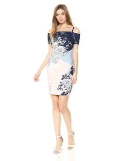 GUESS Women's  Printed Scuba Dress