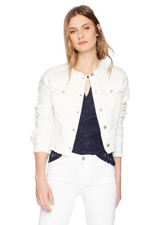 GUESS Women's Raw Edge Jacket White lace S