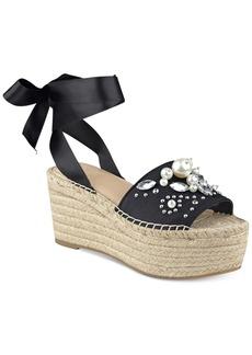 Guess Women's Razzle Embellished Lace-Up Espadrilles Women's Shoes