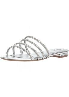 GUESS Women's Riley Flat Sandal   Medium US