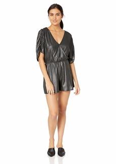 GUESS Women's Riviera Half Sleeve Romper  XS