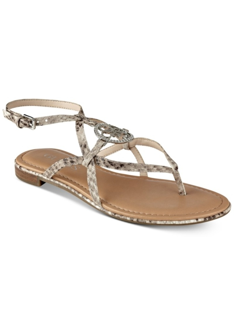 b2122c73d6c GUESS Guess Women s Romie Flat Sandals Women s Shoes Now  24.13