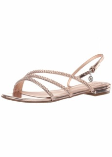 GUESS Women's Rosier Flat Sandal   M US