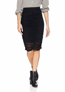 GUESS Women's Ruched Odette Skirt Jet Black A A XS