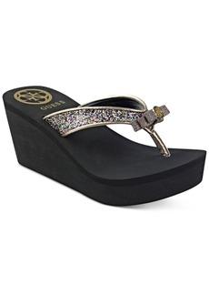 Guess Women's Saide Bow Flip-Flops Women's Shoes