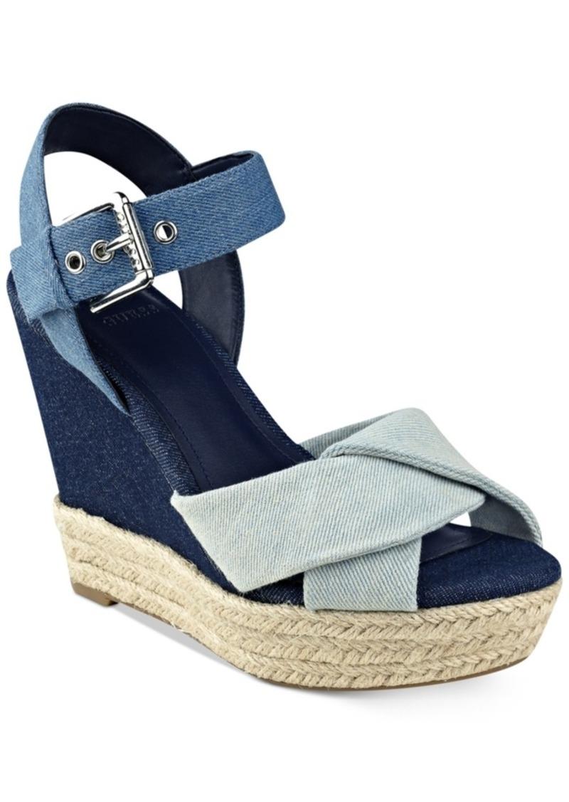 c03ffb9efdb GUESS Guess Women s Sanda Wedge Sandals Women s Shoes Now  31.13