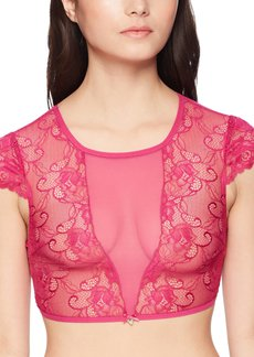 GUESS Women's Scallop Trim Cut Out Top  M